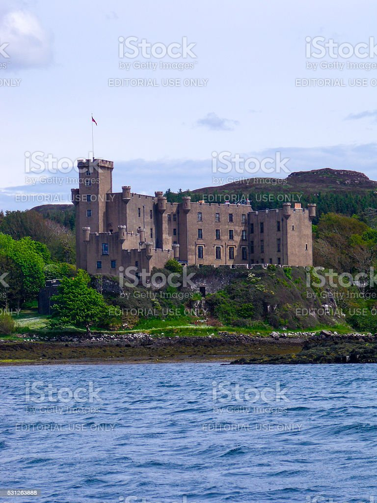 Dunvegan Castle standing on the Isle of Skye, Highlands, Scotland stock photo