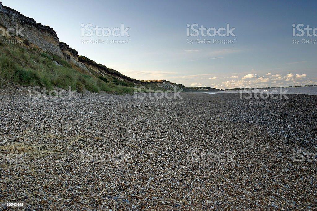 Dunwich Beach, Suffolk, United Kingdom royalty-free stock photo