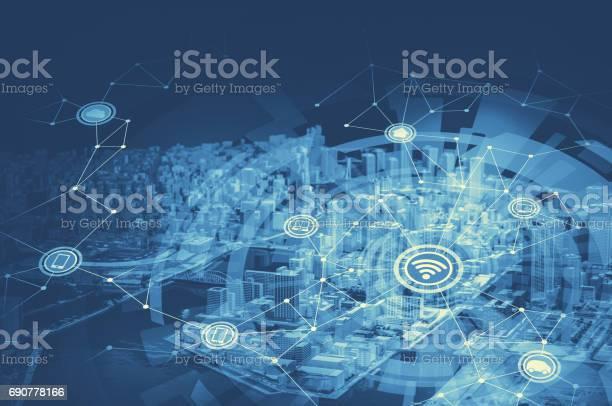 Duo tone graphic of smart city and wireless communication network picture id690778166?b=1&k=6&m=690778166&s=612x612&h=zl56pgnnw2ux0pvq59xs6jd7fvflzojxxlmpoizljcw=