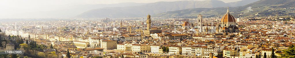 Duomo and Cathedral and the Florence Skyline in Italy royalty-free stock photo