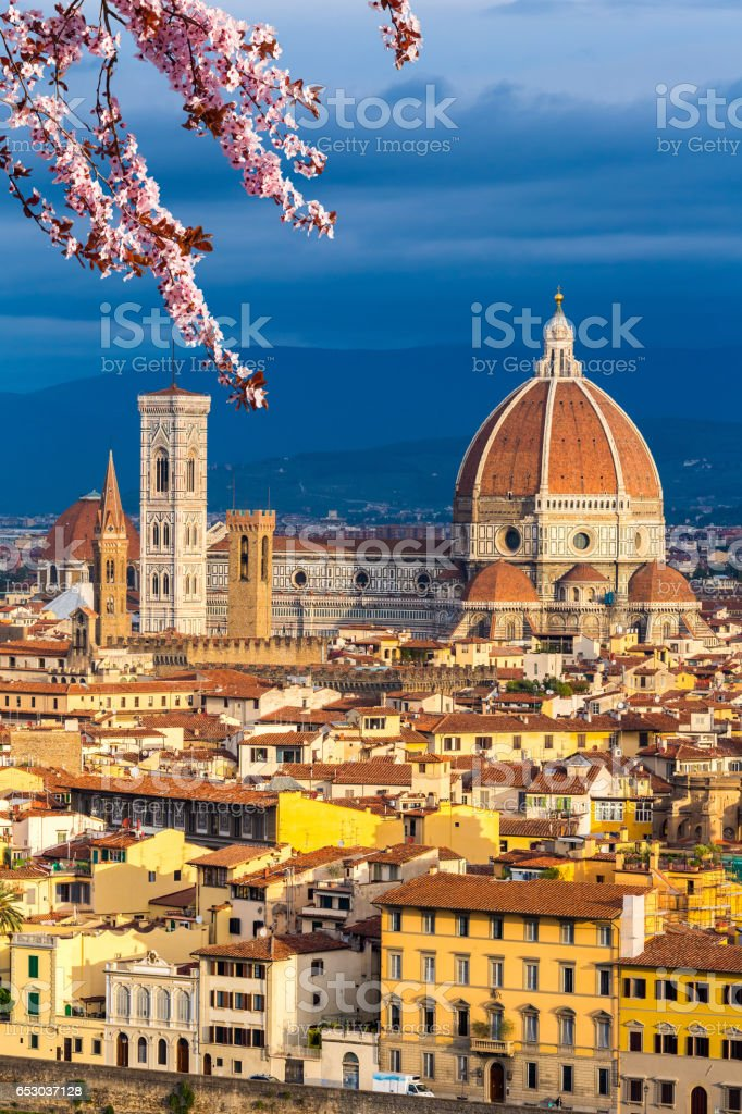 Duomo cathedral in Florence at spring stock photo