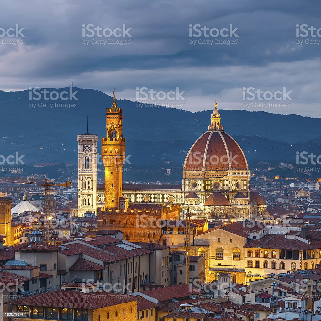 Duomo cathedral in Florence stock photo