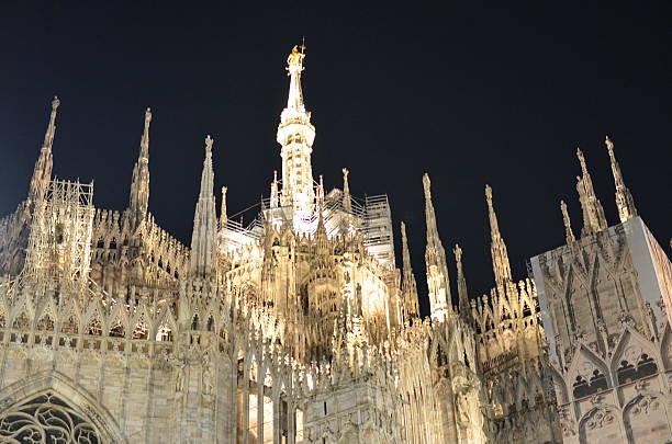 Duomo Cathedral in Milan stock photo