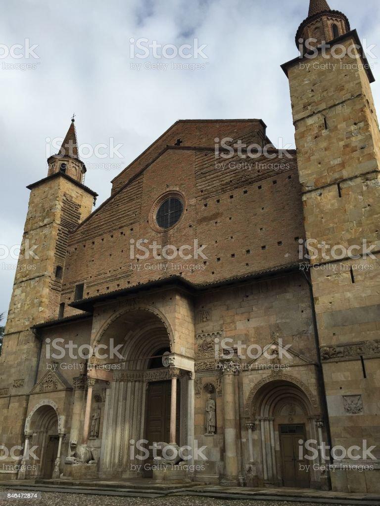 Duomo di Fidenza view stock photo
