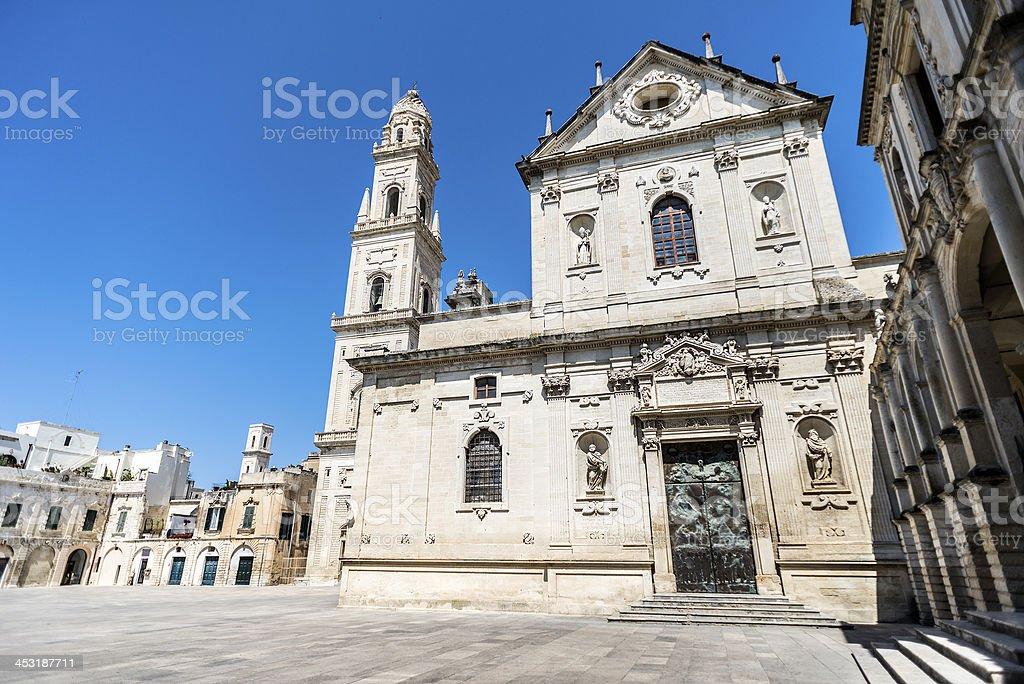 Duomo di Lecce (Cattedrale metropolitana Santa Maria Assunta) stock photo