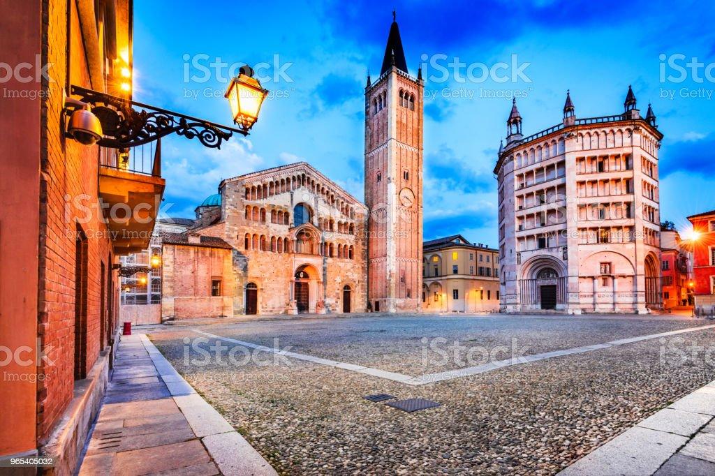 Duomo di Parma, Parma, Italy royalty-free stock photo