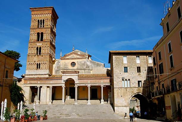 Duomo di Terracina stock photo