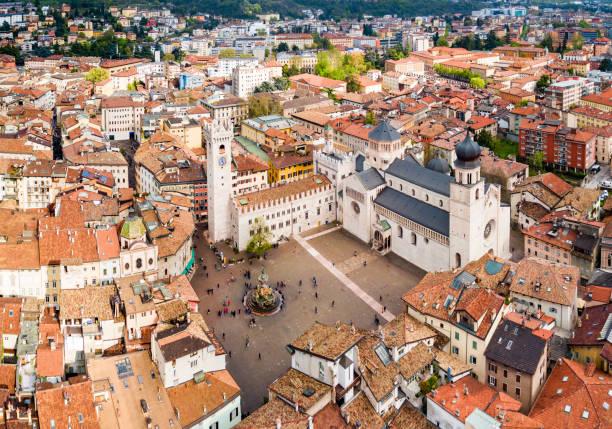 Duomo di Trento Cathedral, Italy stock photo