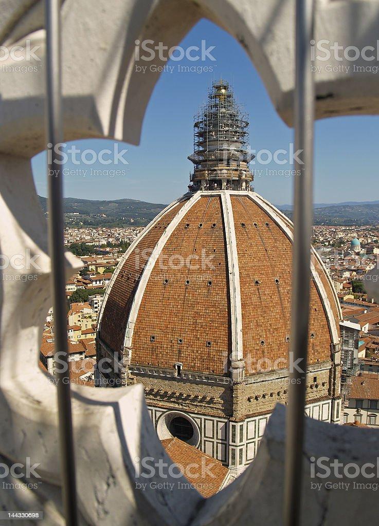 Duomo in a hexagon royalty-free stock photo