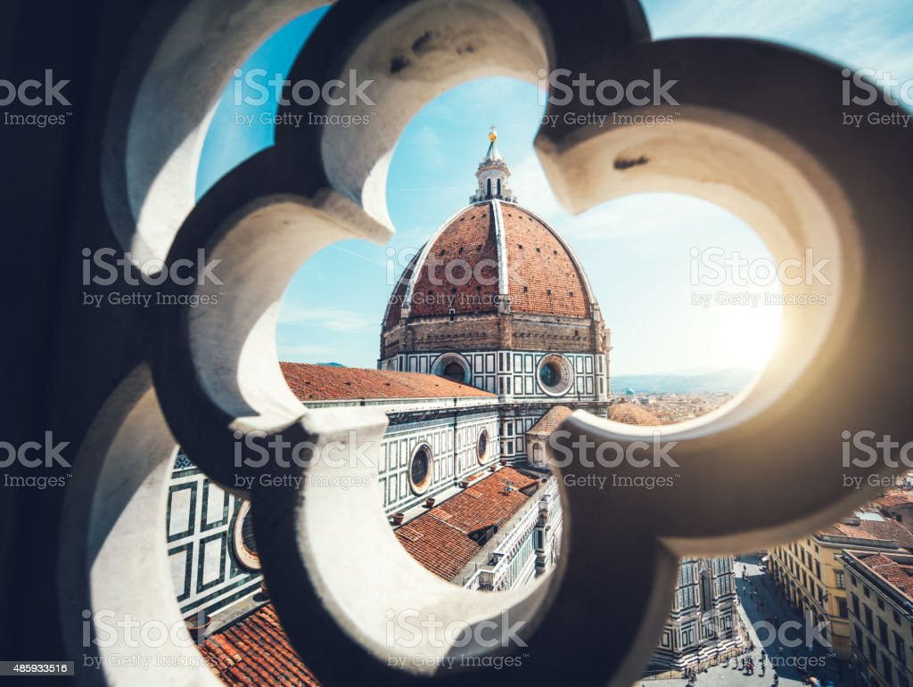 Duomo In Florence View on Duomo in Florence from Giotto's Bell Tower. 2015 Stock Photo