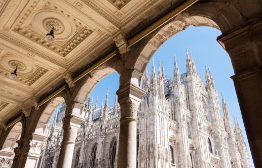 Duomo Of Milan Italy Piazza Del Duomo Stock Photo - Download Image Now