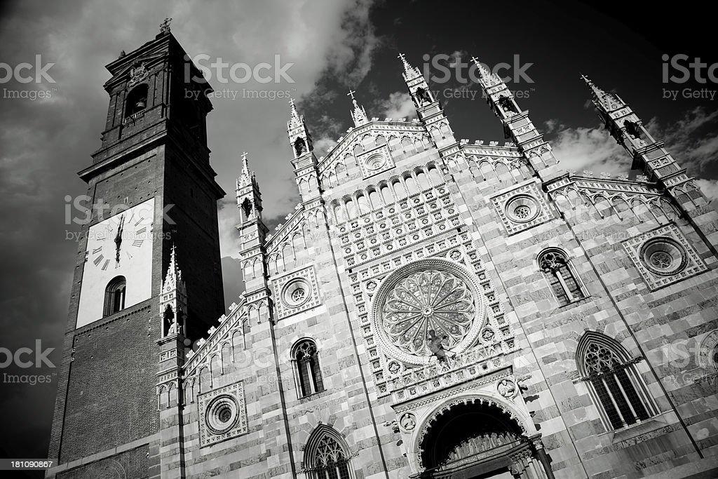 Duomo of Monza facade stock photo