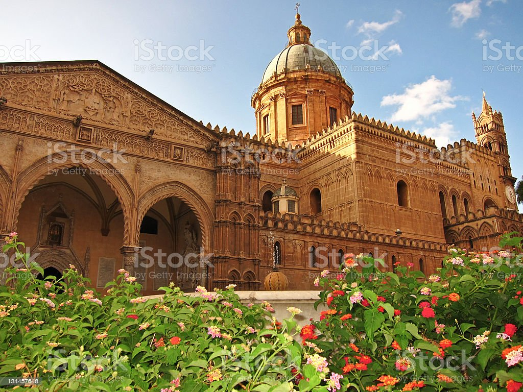 Duomo of Palermo stock photo