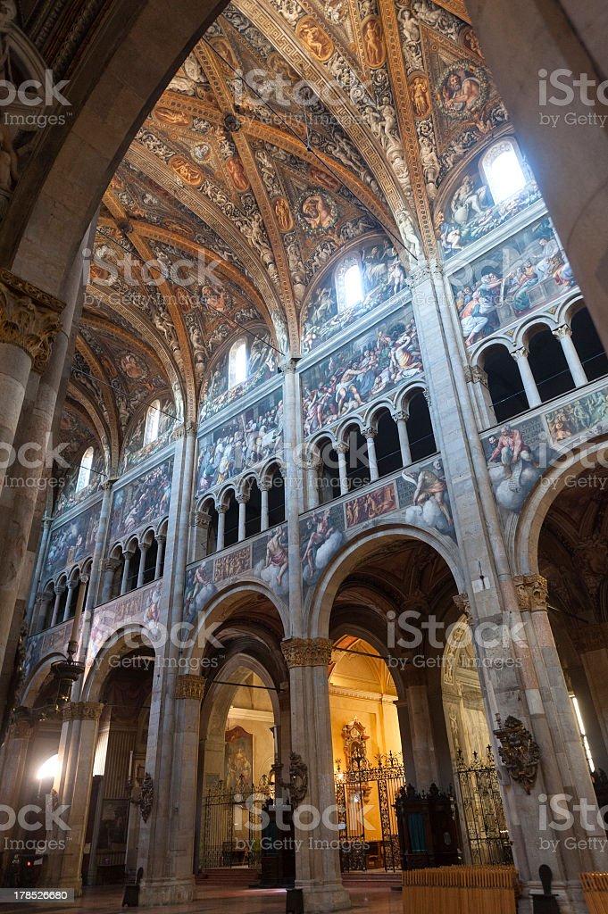 Duomo of Parma, interior royalty-free stock photo