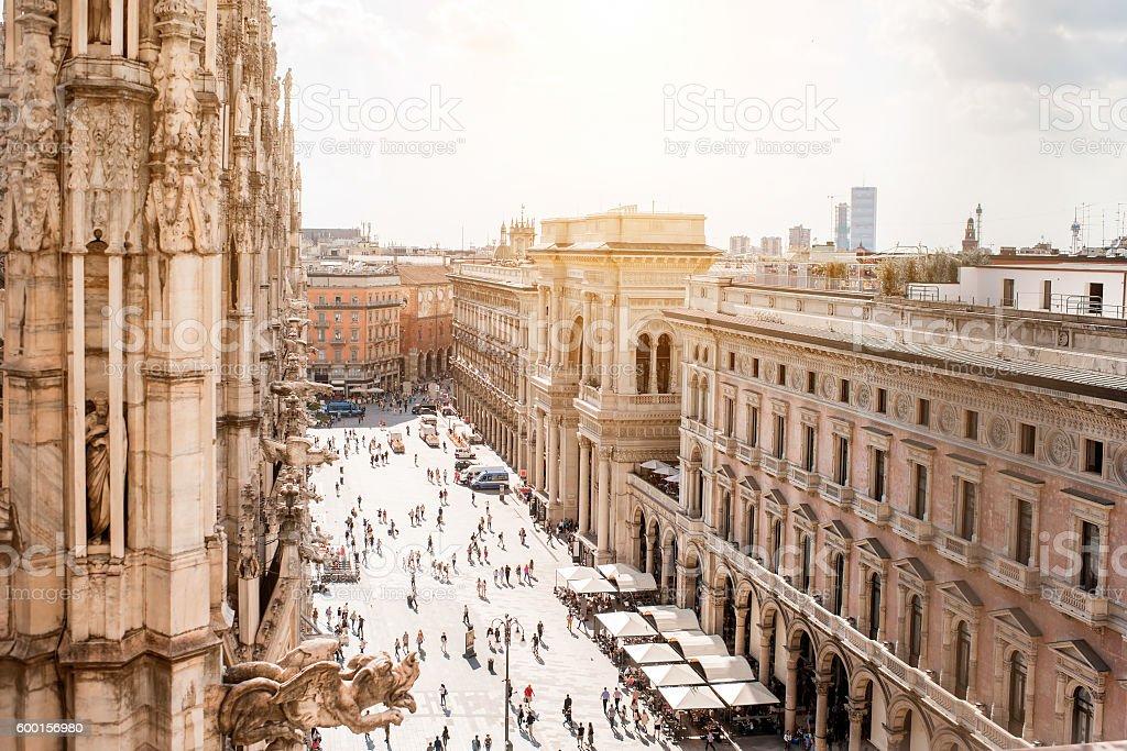 Piazza del Duomo di Milano - foto stock