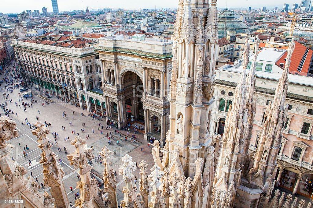 Duomo square stock photo