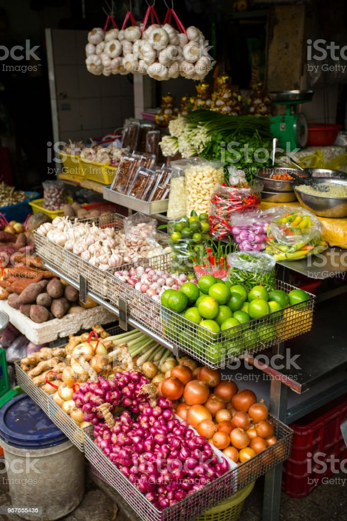 Duong Dong Market Phu Quoc Island Vietnam stock photo