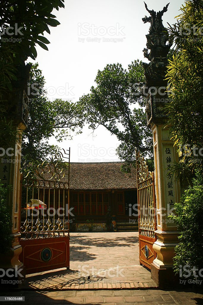 Duong Lam ancient village - famous attractions in Hanoi royalty-free stock photo