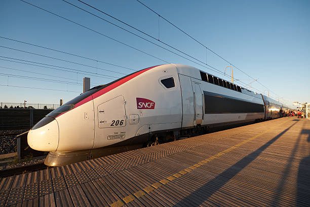 TGV Duplex in Carmillon stock photo