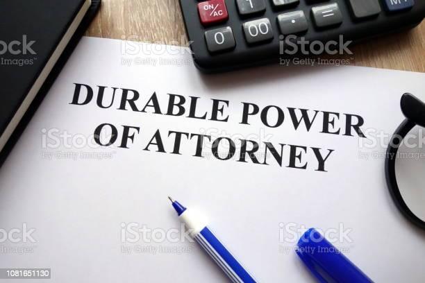 Durable Power Of Attorney Document - Fotografias de stock e mais imagens de Advogado
