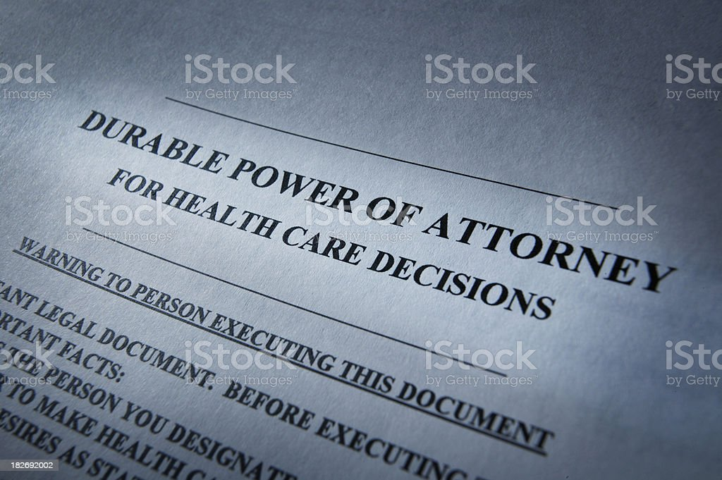 Durable Power of Attorney royalty-free stock photo