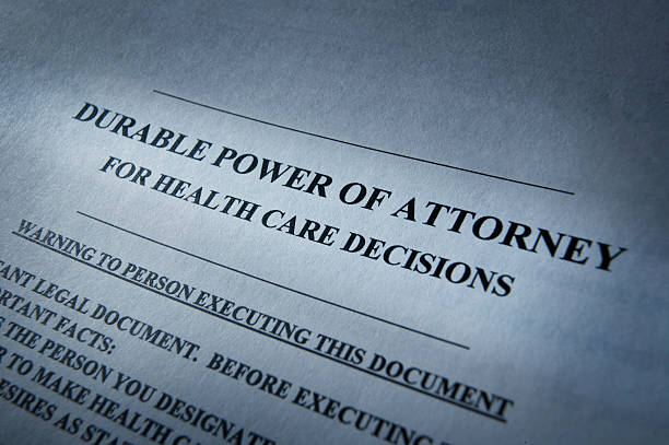 Durable Power of Attorney stock photo
