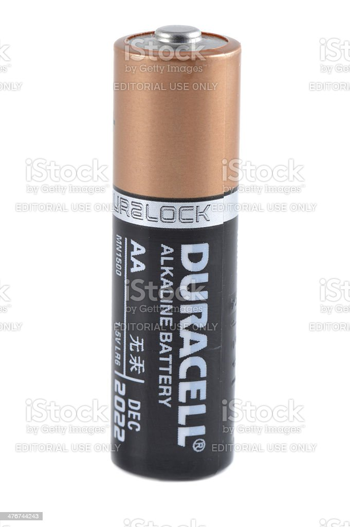 Duracell AA Battery stock photo