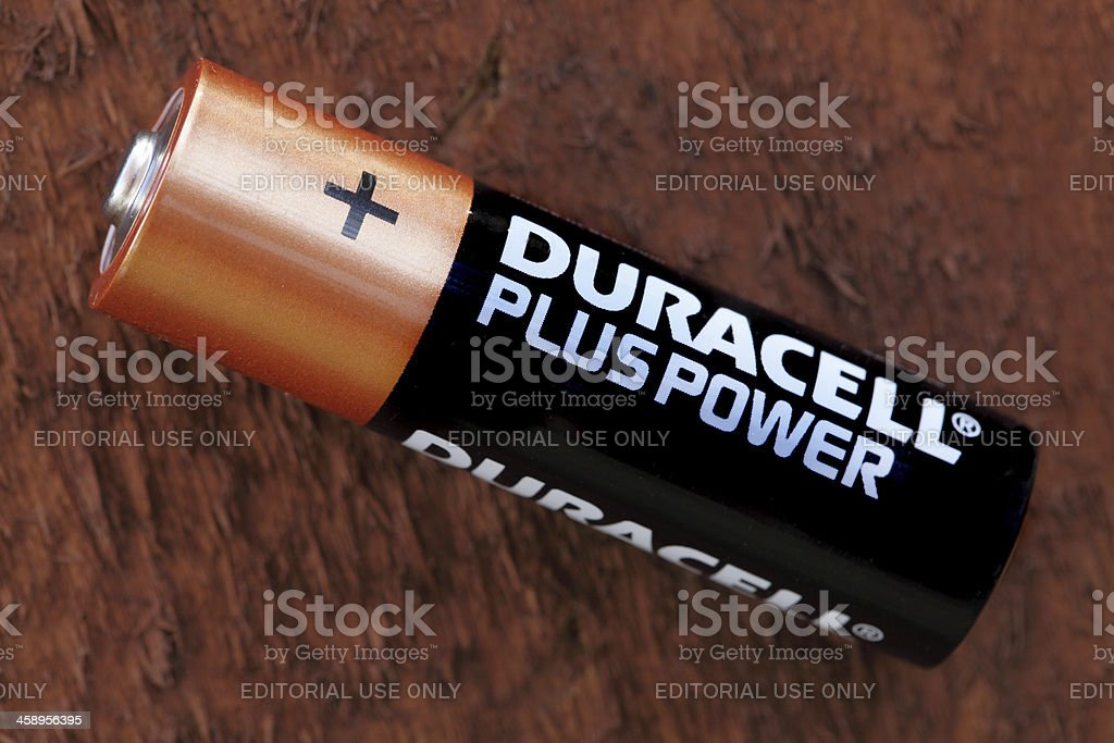Duracell Plus AA battery stock photo