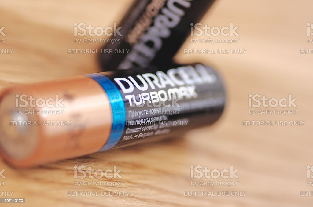 Duracell Turbomax stock photo