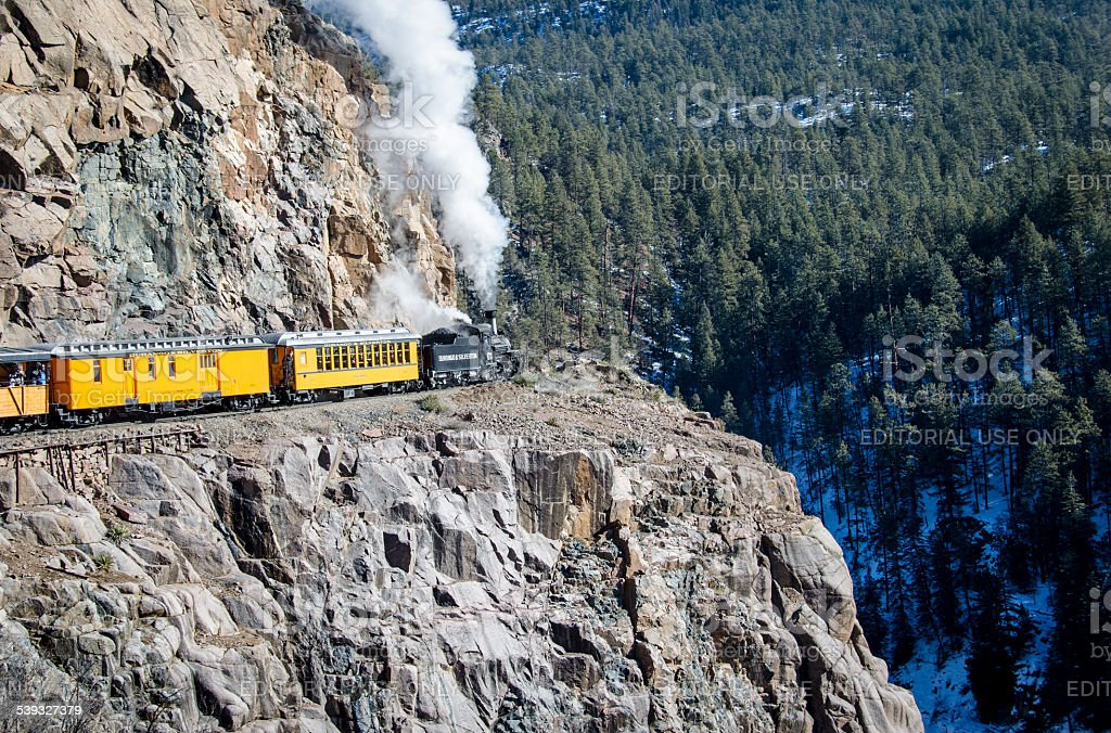 Durango and Silverton Narrow Gauge Railroad stock photo