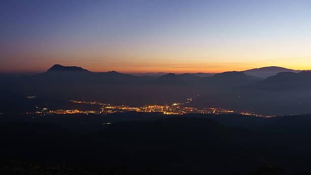 En la noche de la ciudad de Durango - foto de stock