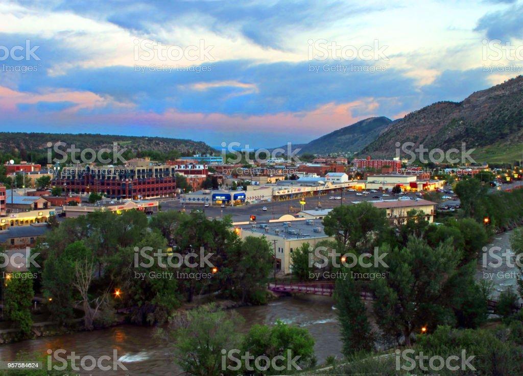 Durango Colorado stock photo
