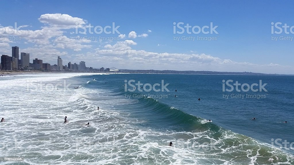 Durban beach landscape stock photo