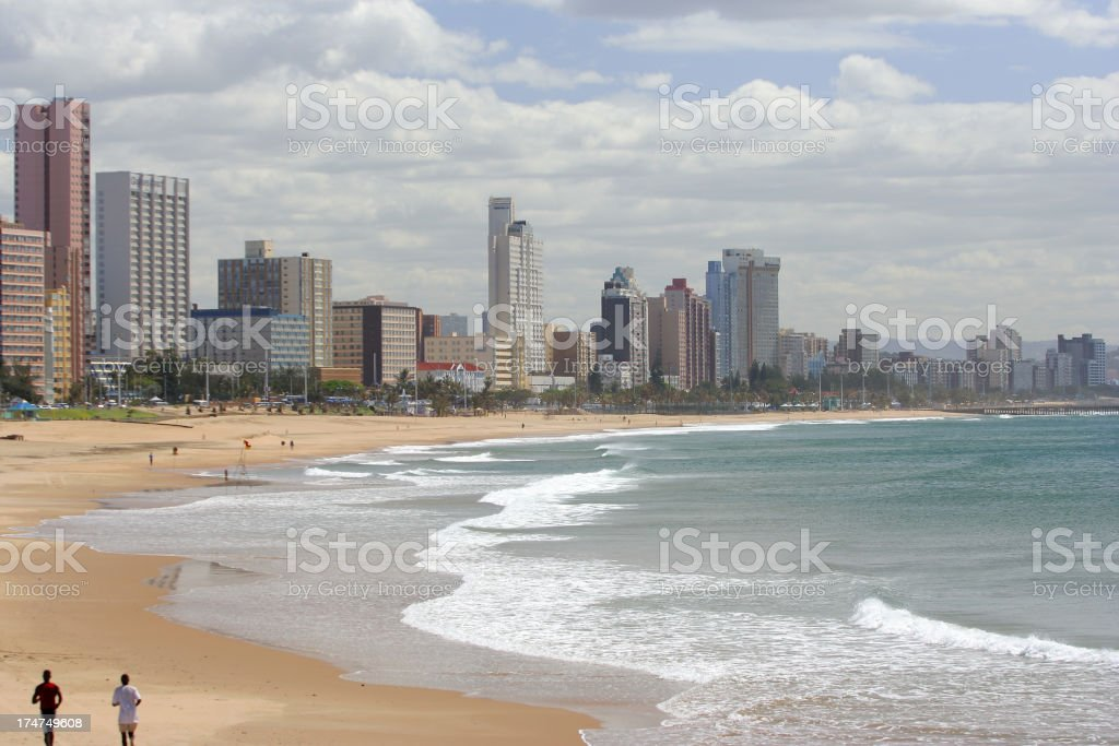 Durban Beachfront landscape stock photo