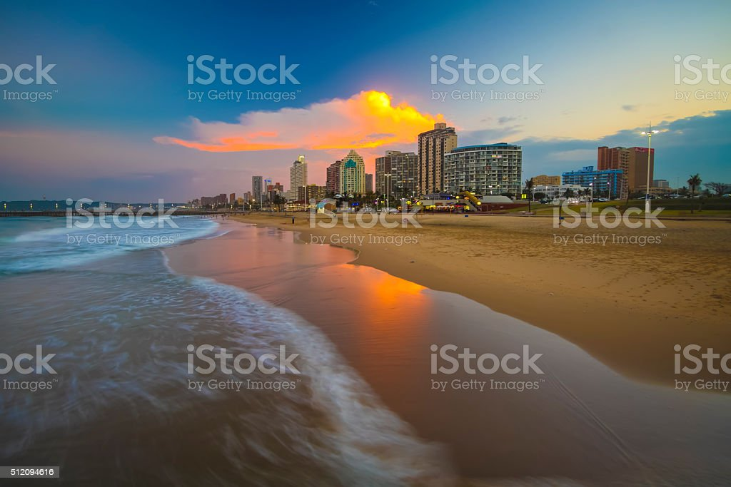 Durban Beachfront stock photo
