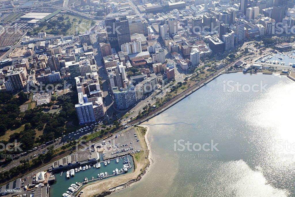 durban city cbd, south africa stock photo
