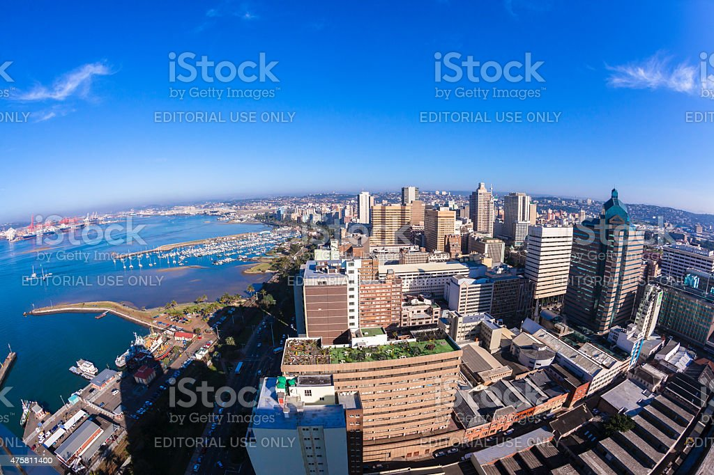 Durban City Harbor stock photo