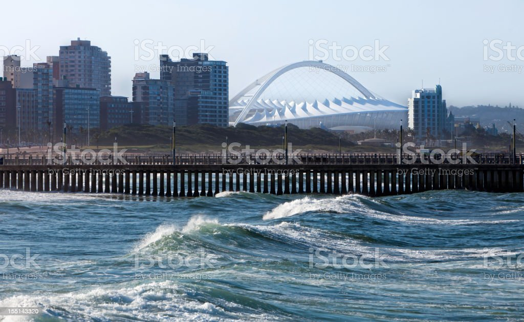 Durban City with the Sports Stadium royalty-free stock photo