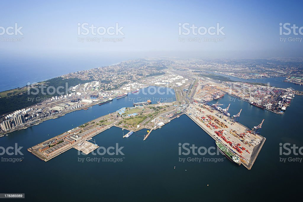 durban harbor, south africa stock photo