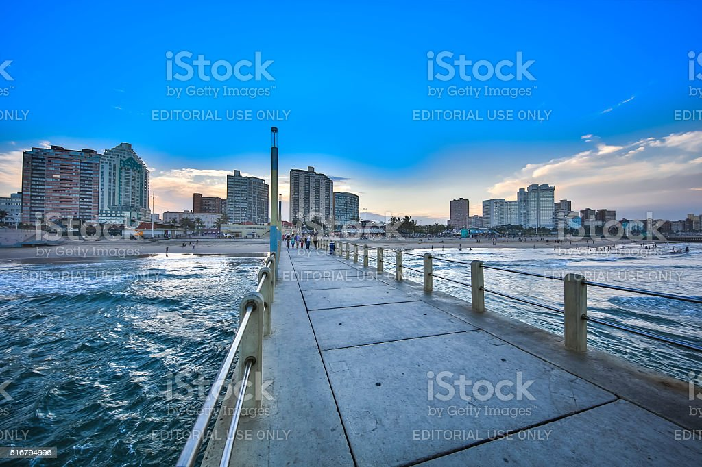 Durban North Pier stock photo