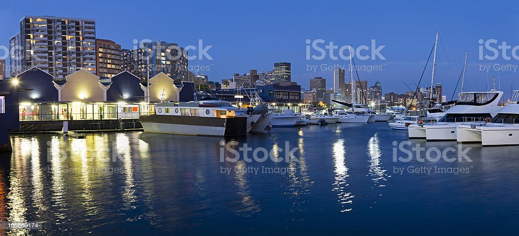 Durban panorama from the docks stock photo