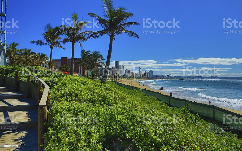 Durban Skyline stock photo