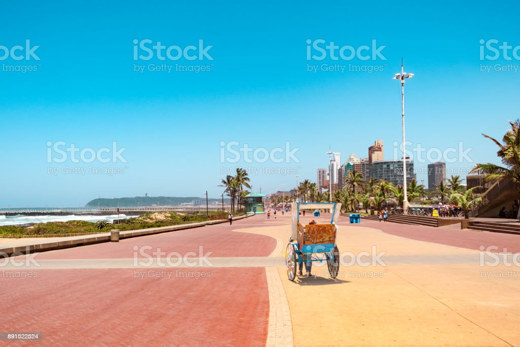 Durban Südafrika Promenade rickschaw – Foto