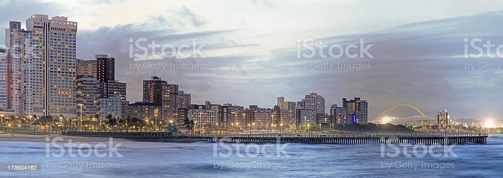 Durban sunset panorama stock photo