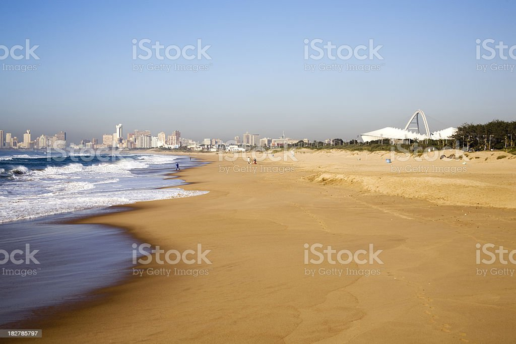 Durban's Moses Mabhida Stadium from the beach South Africa royalty-free stock photo