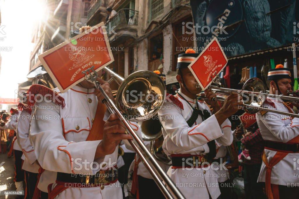 Durbar marching band stock photo