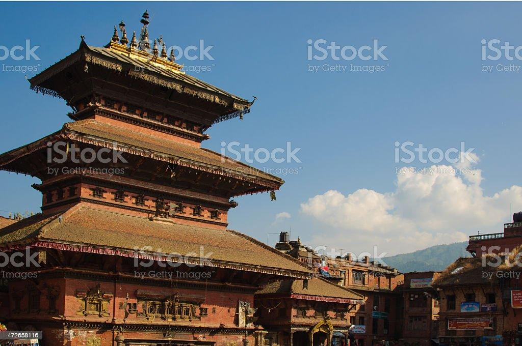 Durbar Squar, Bhaktapur, Nepal stock photo