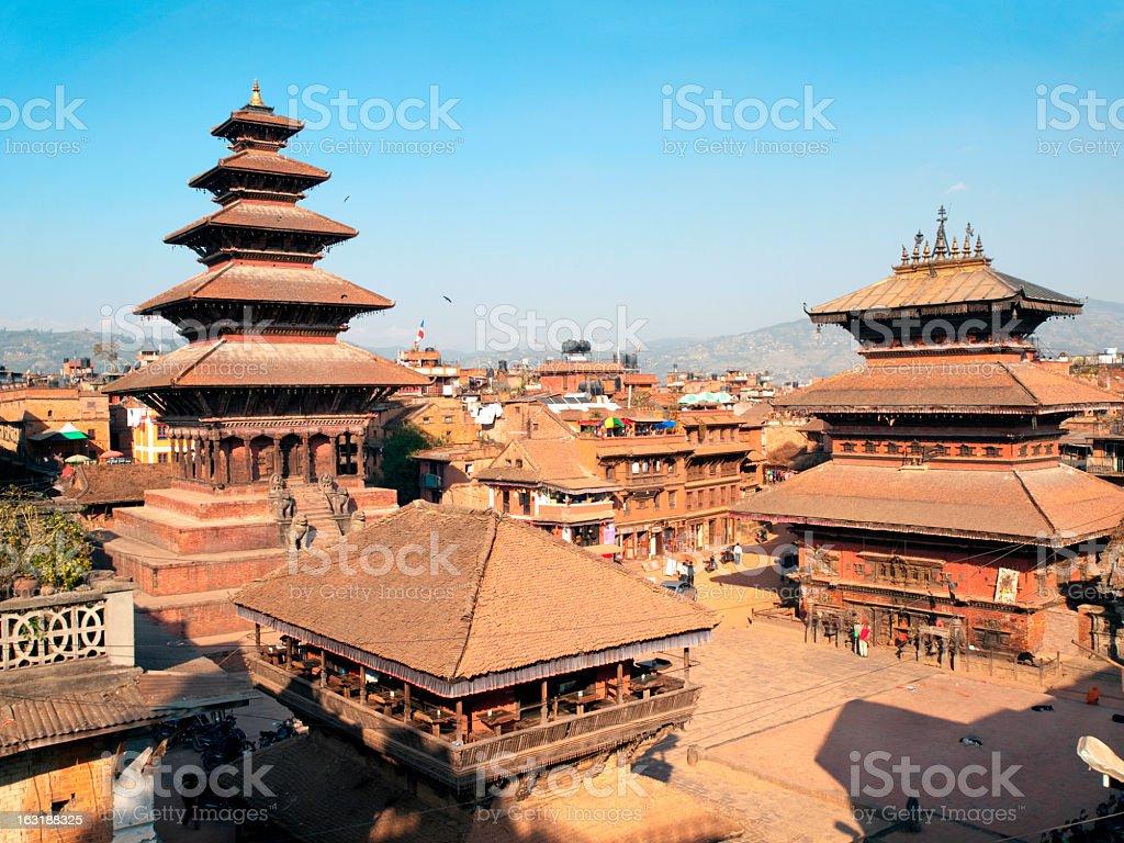 Durbar Square in Bhaktapur. stock photo