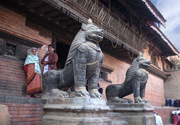 Durbar square in Patan, Kathmandu valley, Nepal stock photo