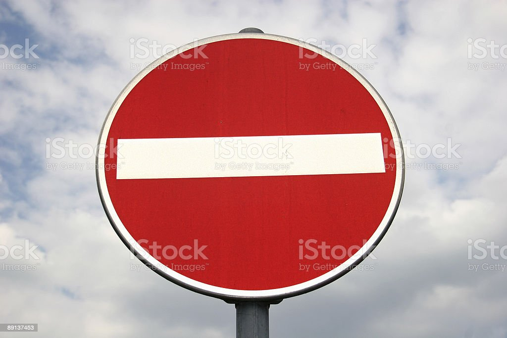 Durchfahrt verboten / No passage royalty-free stock photo